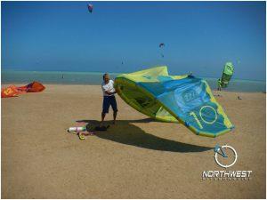 Kiteboarding in Kite-Village Hamata