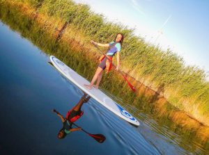 Woman on a SUP