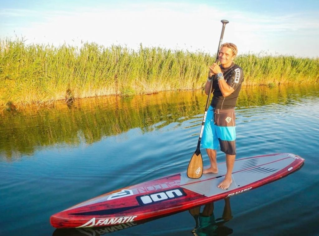 Enjoying the weather on a SUP